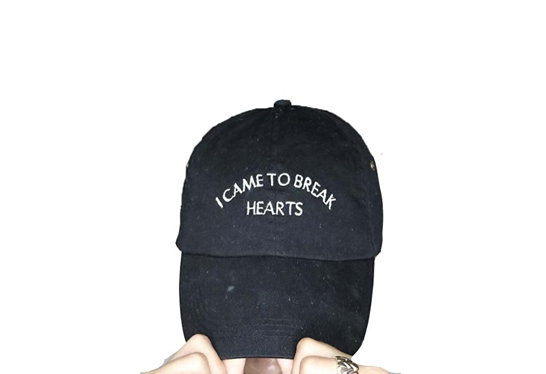 7ffead61a ValDesigns I Came to Break Hearts Black Baseball Cap with White ...