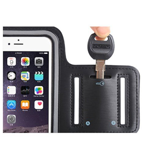 DFV mobile - Armband Professional Cover Neoprene Waterproof Wraparound Sport with Buckle for =>      APPLE IPHONE SE > Black