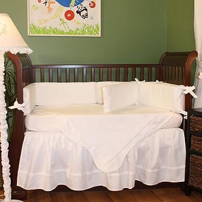 Hoohobbers 4-piece Crib Bedding White Pique from Hoohobbers