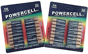 Pack Grande Promocional de 32 Pilas Aaa - 1,5 V: Amazon.es: Electrónica