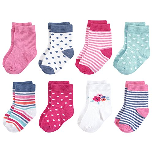 Touched by Nature Baby Organic Cotton Socks, Garden Floral 8Pk, 0-6 Months