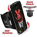 Tribe USA Phone Armband. Holder for iPhone, Samsung, Running & Workouts. 360° Rotation & Detachable. Fits All 4-7 Inch Screen Phones Plus Case. Adjustable Strap, Pocket & More!