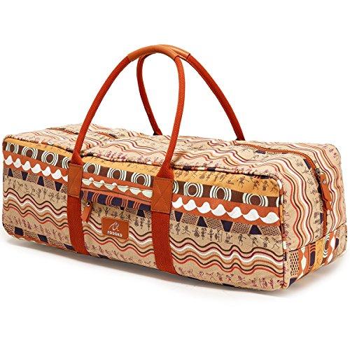 FODOKO Yoga Mat Gym Bag for Women 26'' for Large Yoga Mat, Yoga Accessories, Yoga Towel & Yoga Blocks
