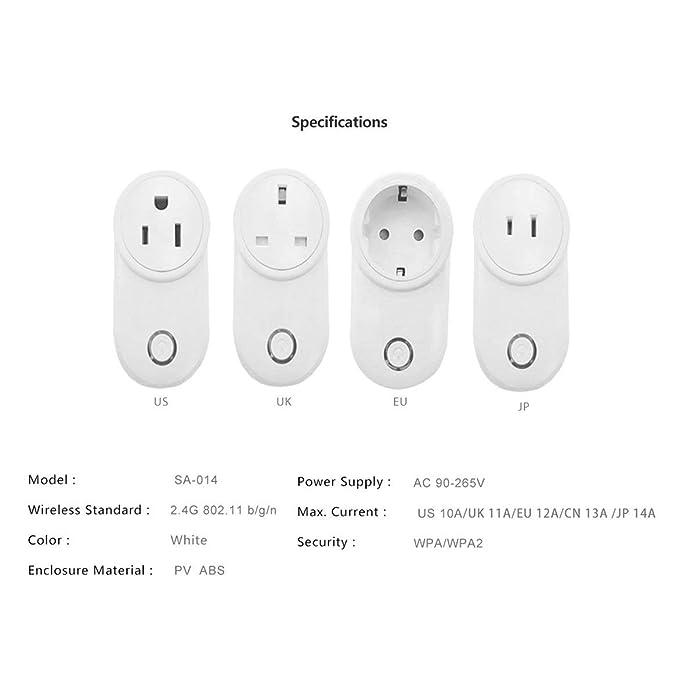 JohnJohnsen Enchufe Inteligente WiFi 10A Blanco