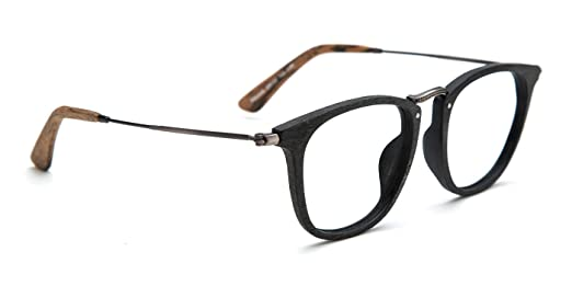 tijn retro wood wayfarer eyeglasses frame faux wooden glasses - Wooden Glasses Frames