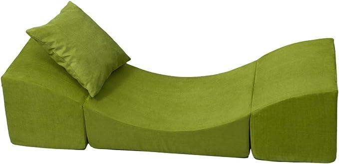 Colore: Verde Velinda Poltrona Relax,Pouf,Pieghevole,mobili cameretta Bimbo Giochi