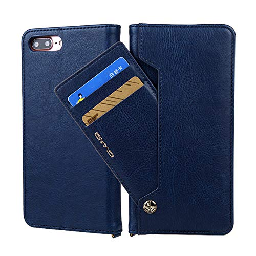 Twinlight for iPhone 7 Case Luxury Magnetic Flip PU Leather Case for iPhone 7 8 Plus X XS XR XS Max Case Wallet with Stand Cards Slot (Royal Blue, for iPhone 7 8)