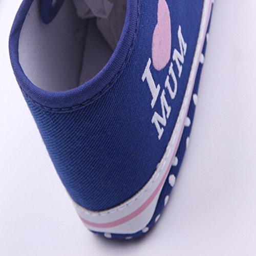 etrack-online bebé niña Prewalker Suela Suave Antideslizante Zapatillas Zapatos rosa rosa Talla:12-18months profundo azul