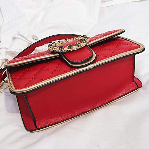 Borse 21 In Pelle Red Hope Da Rossa 14cm 8 red Con Donna Tracolla Regolabile A dxxwn