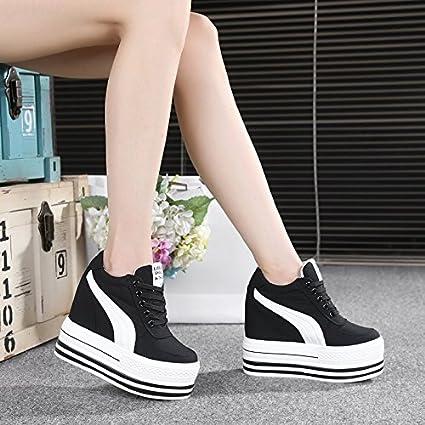 GTVERNH Women s shoes Summer 12Cm High Heels Sports Shoes Muffins Women S  Shoes High Inside 427c871100