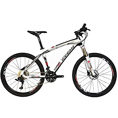 "BEIOU Carbon Fiber Mountain Bike Hardtail MTB LTWOO 30 Speed 13kg 26"" Professional External Cable Routing Toray T700 CB083"