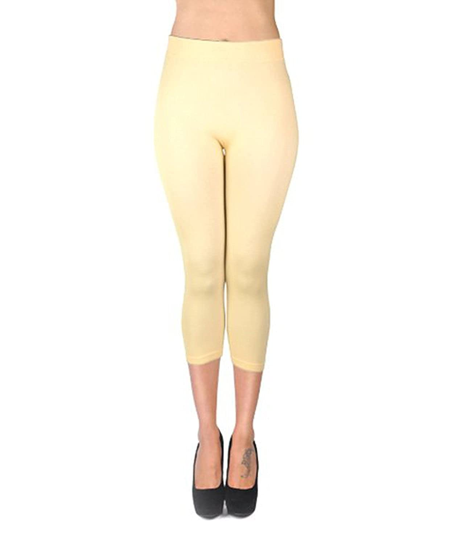 Women's Soho Solid Color Footless Capri Leggings at Amazon Women's ...