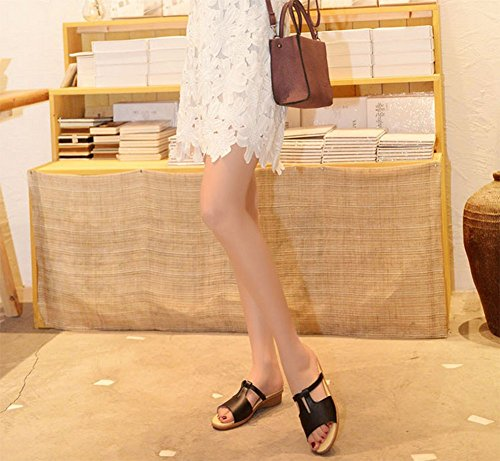 A Et Mesdames weiwei Pantoufles Pantoufles Fond Epais D'Été Plat Un Style Cool SXqPRX0