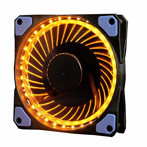 - Wathai Orange LED Ring Fan 120mm for Computer Case CPU and Radiators Cooler