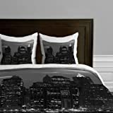 Deny Designs Leonidas Oxby New York Financial District Duvet Cover, Twin/Twin XL