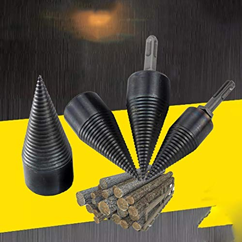 Berill 32mm Log Splitter Screw Cone Kindling Firewood Splitter 1pcs for Hand Drill Stick Copper