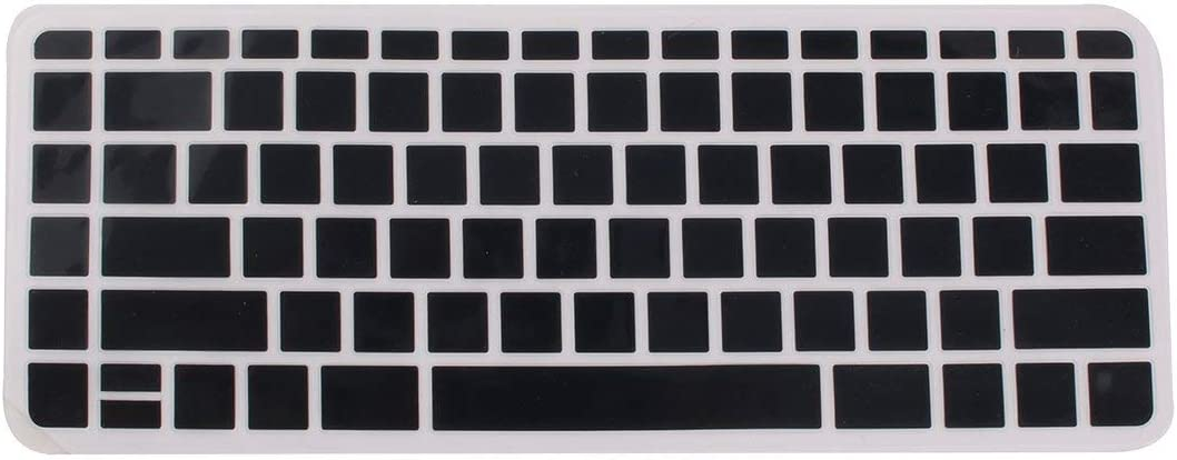 14 inches NA Computer Silicone Laptop Anti Dust Protector Skin Case Keyboard Cover Guard Black for HP 034