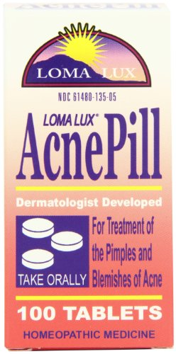Loma Lux Homeopathic Medicine, Acne Pill, 100 Tablets