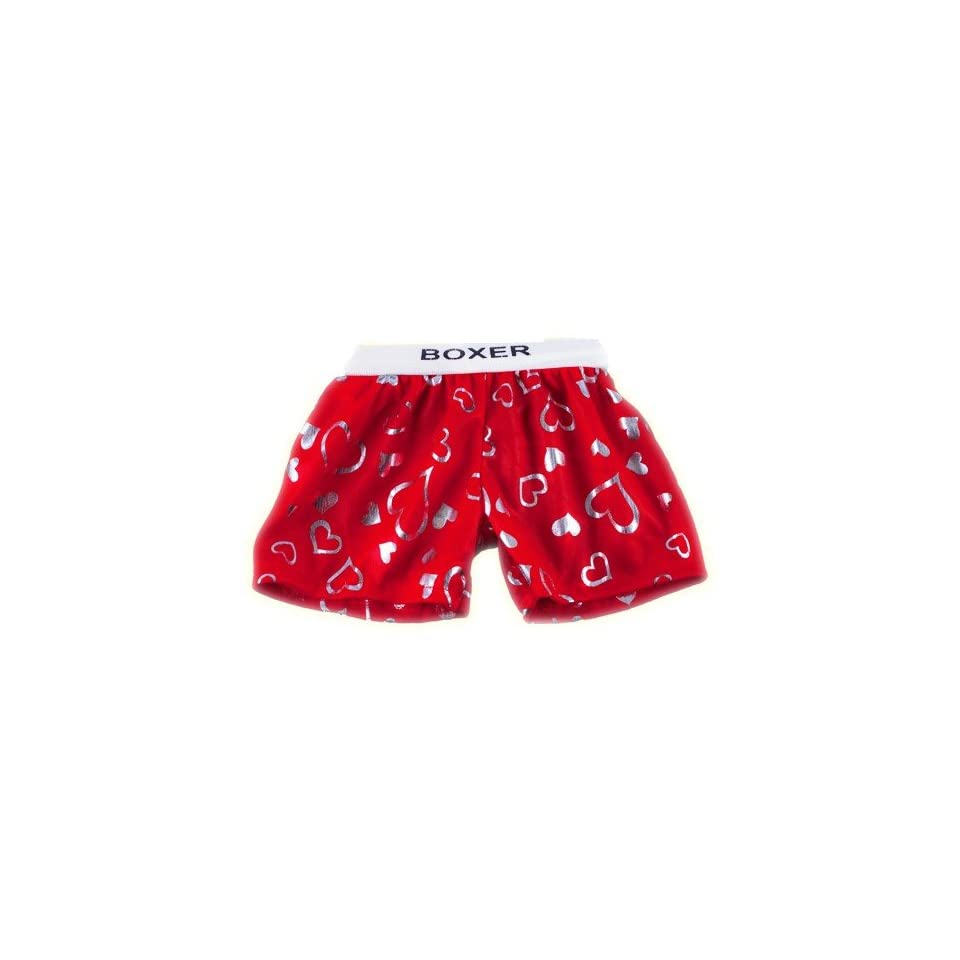 Red Satin Heart Boxer Teddy Bear Clothes Fit 14   18 Build a bear, Vermont Teddy Bears, and Make Your Own Stuffed Animals
