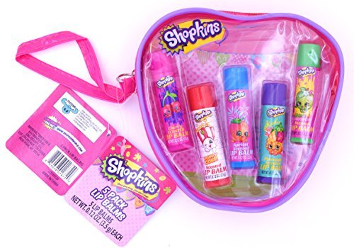 Shopkins Scented 5 Pack Lip Balm Gift Set ()