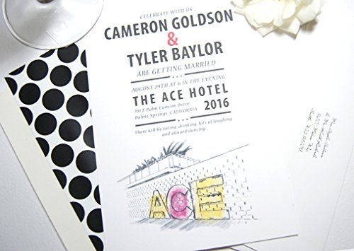 - Ace Hotel Palm Springs Wedding Invitations Package (Sold in sets of 10 Invitations, RSVP Cards and Envelopes)