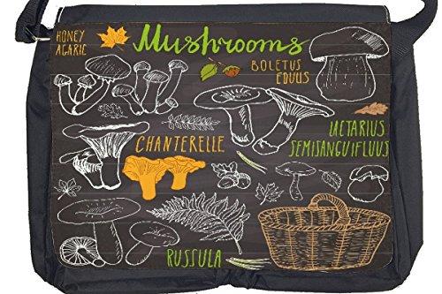 Borsa Tracolla Alimentare Ristorante raccolta funghi Stampato
