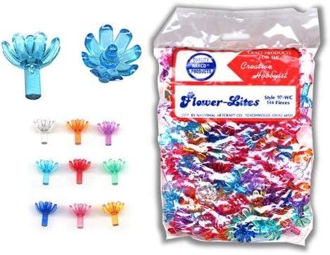 25 Medium Flower Light Bulb Assortment in 9 Colors for Ceramic Christmas Trees