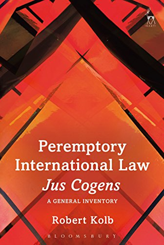 Peremptory International Law - Jus Cogens: A General Inventory
