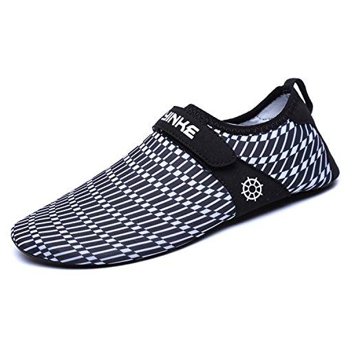 Herren SAGUARO Leicht Barfuß für Damen Schuhe Schwimmschuhe Strandschuhe Weiß Rutschfeste mit Aquaschuhe Badeschuhe Klettverschluss Atmungsaktiv rqrUTOg