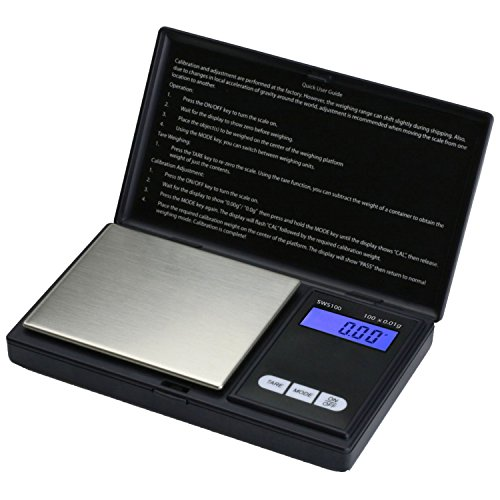 Jewelry Digital Scale (Smart Weigh SWS100 Elite Series Digital Pocket Scale, 100g by 0.01g,)