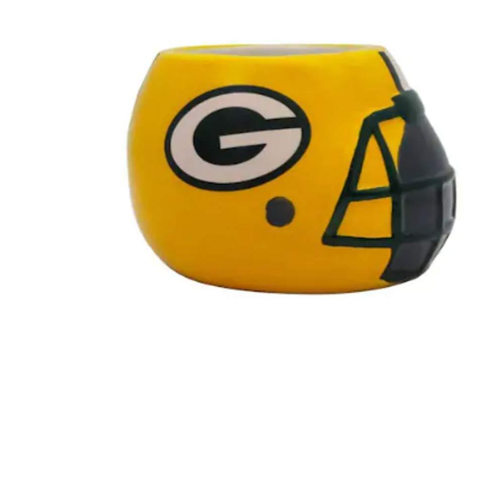 Green Bay Packers Team Pride Ceramic Helmet Planter Autumn Winter Indoor Herbal Pot
