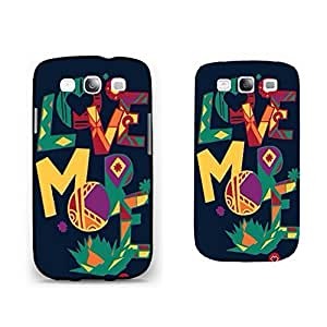 Hipster Love Heart Series Pattern Phone Case Monogrammed Floral Geometric Samsung Galaxy S3 Case Cover for Girls
