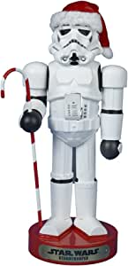 Star Wars Storm Trooper Décor with Candy Cane Nutcracker, 11-Inch