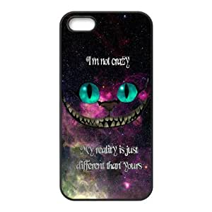 LeonardCustom Durable Protective TPU Rubber Fitted Cover Case for iPhone 5/5S , Cheshire Cat