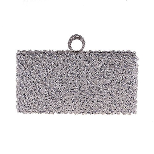 KERVINFENDRIYUN Gold Purse Handbag Bag Luxury Evening Women's Bag Beaded Evening Banquet Color Dress Dress Silver Bag Clutch AAqBZrwn