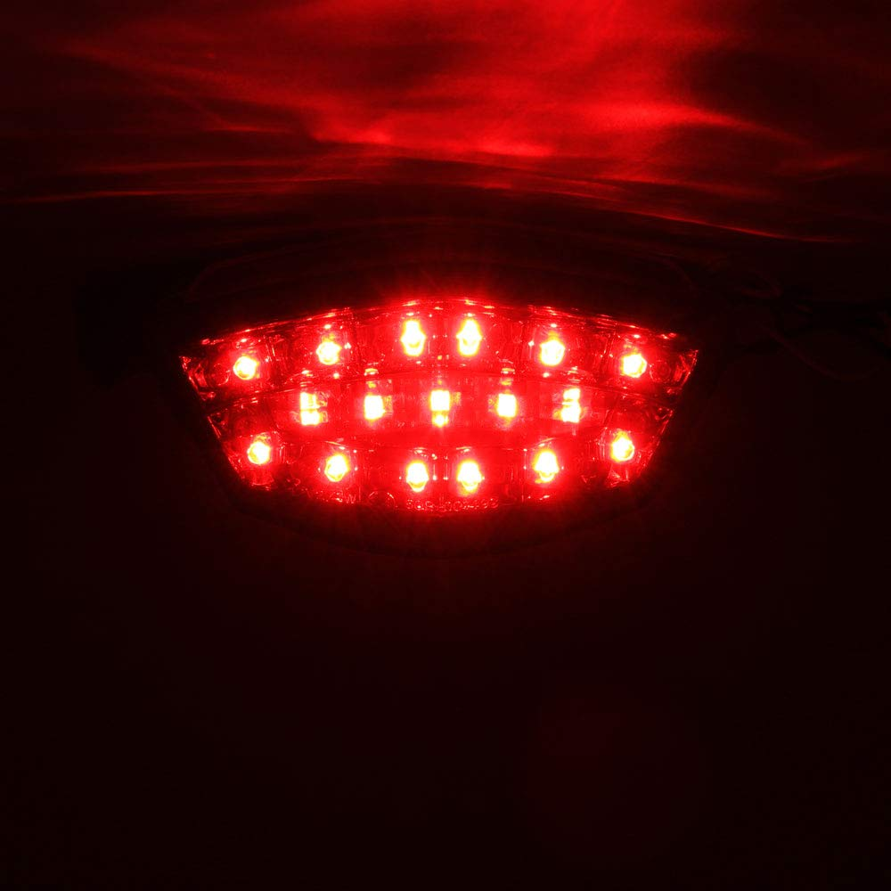 DMP 2008 2009 2010 2011 2012 Kawasaki Ninja 250R 250 Clear Integrated LED Tail Light - 905-4119