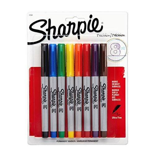 sharpie-permanent-markers-ultra-fine-point-assorted-colors-8-count