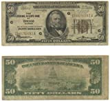 1929 $50 Federal Reserve Bank Note, Chicago (G)