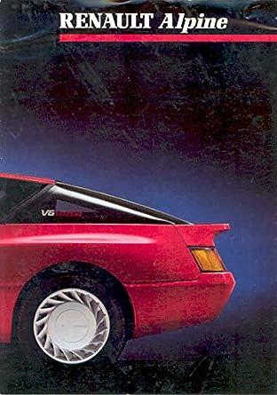 1986 Renault Alpine V6 & Turbo Sales Brochure French