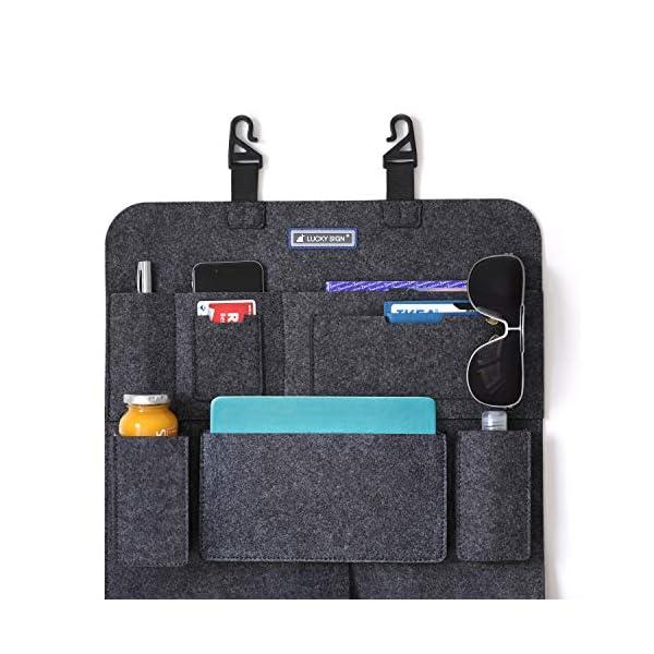 51PMBNV3yML Auto Organizer Rückenlehnenschutz 2.Gerneration mit Befestigungshaken multi Staumöglichkeiten Wohnmobil Zubehör…