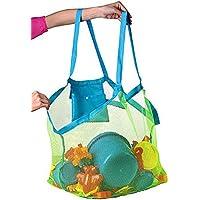 Bolsa de playa de malla grande: bolsa de playa, ideal para juguetes de playa, bolsa de juguetes, bolsa de natación…