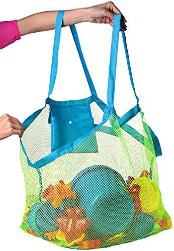 Bolsa de playa de malla grande: bolsa de playa, ideal para juguetes de playa, bolsa de juguetes, bolsa de natación, bolsa de arena para llevar tu ...