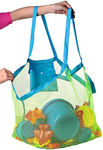 Bolsa de playa de malla grande: bolsa de playa, ideal para ...
