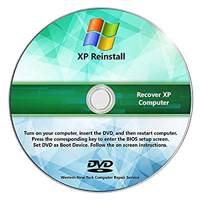 Windows XP Reinstall Recovery Repair Reset SP3 CD DVD Disc RecoveryEssence (R) Pro Do-It-Yourself Restore Install Disk