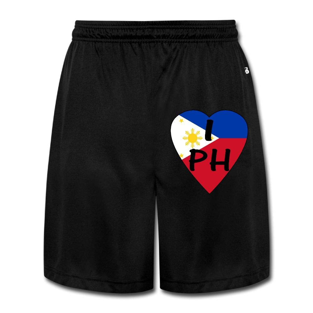 I Love Philippines2 Mens Cotton Classic Fit Joggers Fleece Cargo Shorts
