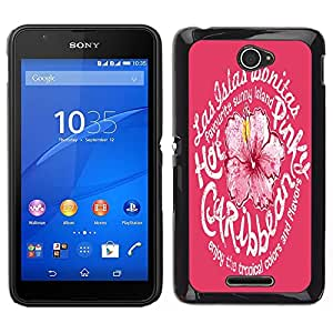 Dragon Case - FOR Sony Xperia E4 - Be alike flower - Caja protectora de pl??stico duro de la cubierta Dise?¡Ào Slim Fit
