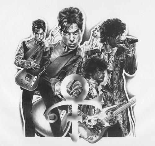 Prince Original Sketch Prints - Poster Size - Black & White