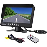 Bus Truck Rearview Camera LCD monitor Heavy duty vehicle rearview Screen LED Backlight High Resolution Backup camera display 2 Video Input Car Rearview Cameras Car DVD stand 7 inch monitor