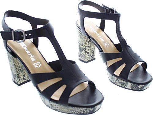 Tamaris 1–28011–36–001Chaussures Femme Sandales en cuir Black