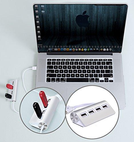 Cateck Premium 4 Port Aluminum USB Hub With 11 Inch
